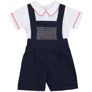 Multi-Colored Smocked Bib Overall