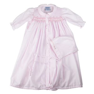 Ribbon Smocked Take Me Home Gown with Hat