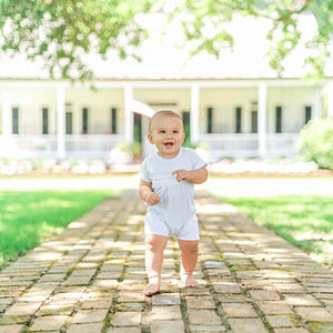 Pima Cotton Smocked Diamond Shortall