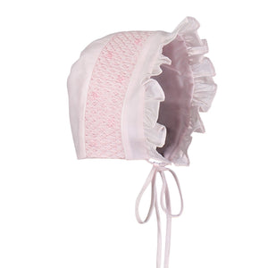 Girls Smocked Bonnet