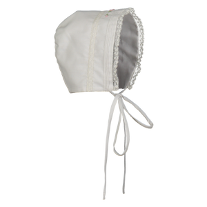 Preemie Girls Floral Bullion & Lace Bonnet