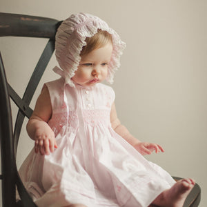 Sleeveless Diamond Smocked Dress