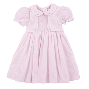 Smocked Mock Vest Dress