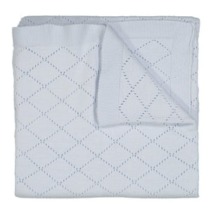 Diamond Pointelle Knit Blanket