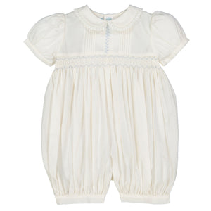 Girls Vintage Smocked Romper