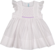 Lavender Smocked Flutter Sleeve Dress