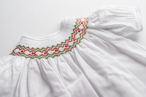 Holiday Zigzag Bishop Dress