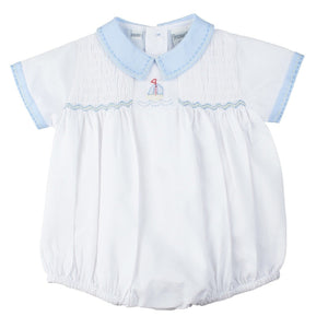 Preemie Sailboat Smocked Creeper