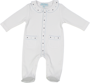 Open Front Dot Boys Romper