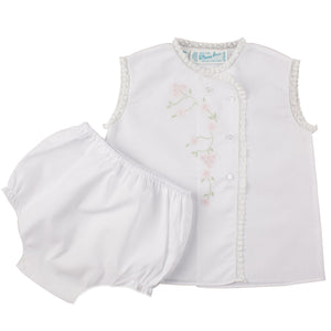 Girls Floral Lace Diaper Set