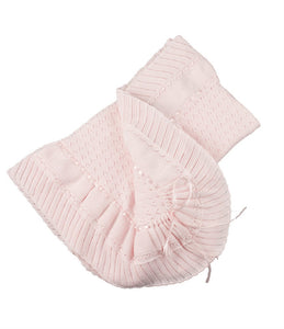 Pointelle Knit Ruffle Blanket