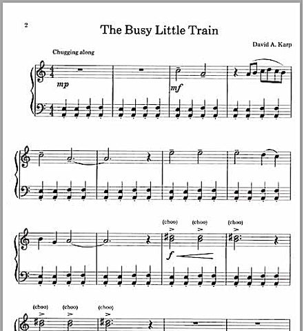Busy Little Train By David Karp - Sample