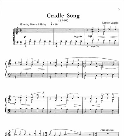 Cradle Song By Ramon Zupko - Pace Recital Series