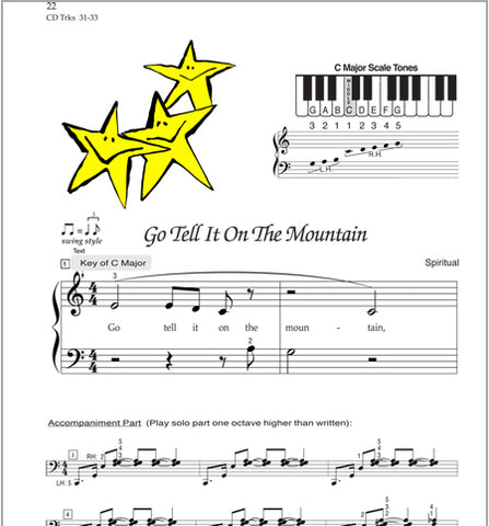 Go Tell It On the Mountain - Sample - from Easy Christmas Melodies