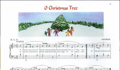 O Christmas Tree - Sample - From Favorite Christ Songs for Piano, Level 2