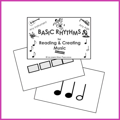 Basic Rhythms Flashcards for Reading and Creating Music