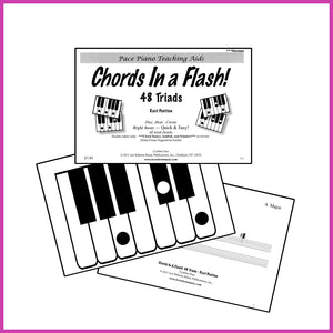 Piano Chords For Beginners: Chords In A Flash Flashcards