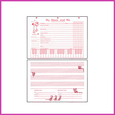 My Music & Me - Young Beginner's Piano Assignment Record