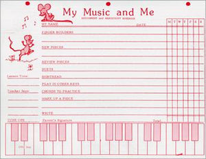My Music & Me Assignment/Manuscript Pad - Helen Pace