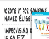 Cue-card cut outs for Für Elise Flash Mob creative activity (Cynthia Pace)