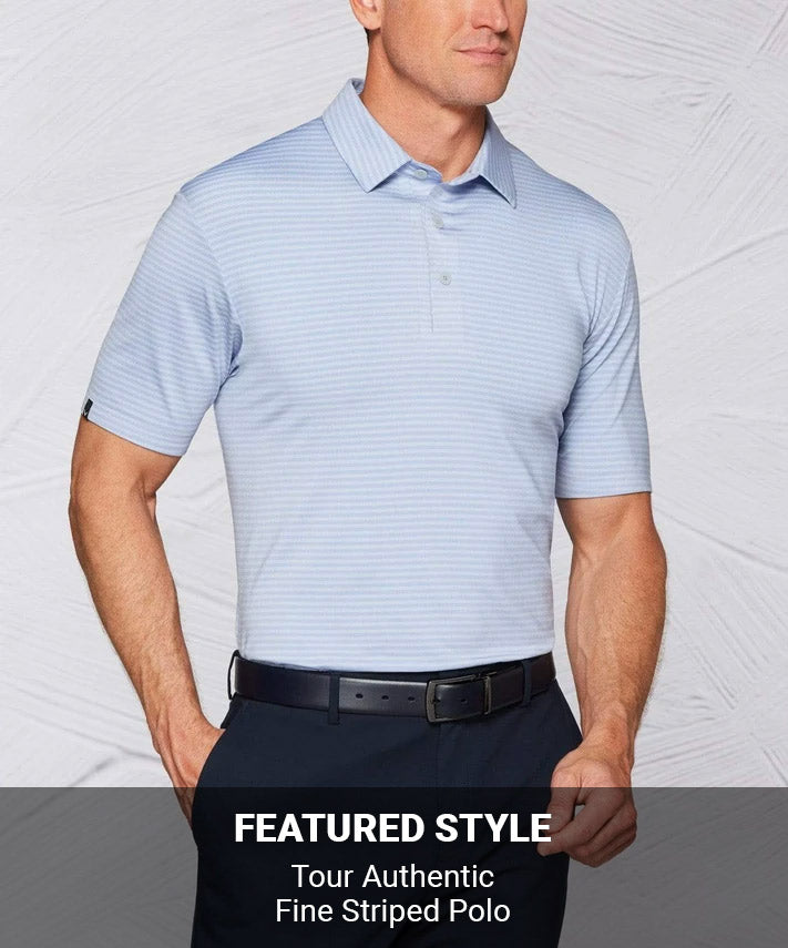 Tour Authentic Fine Striped Polo