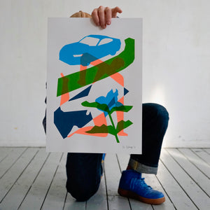 Screenprint, Yogaman