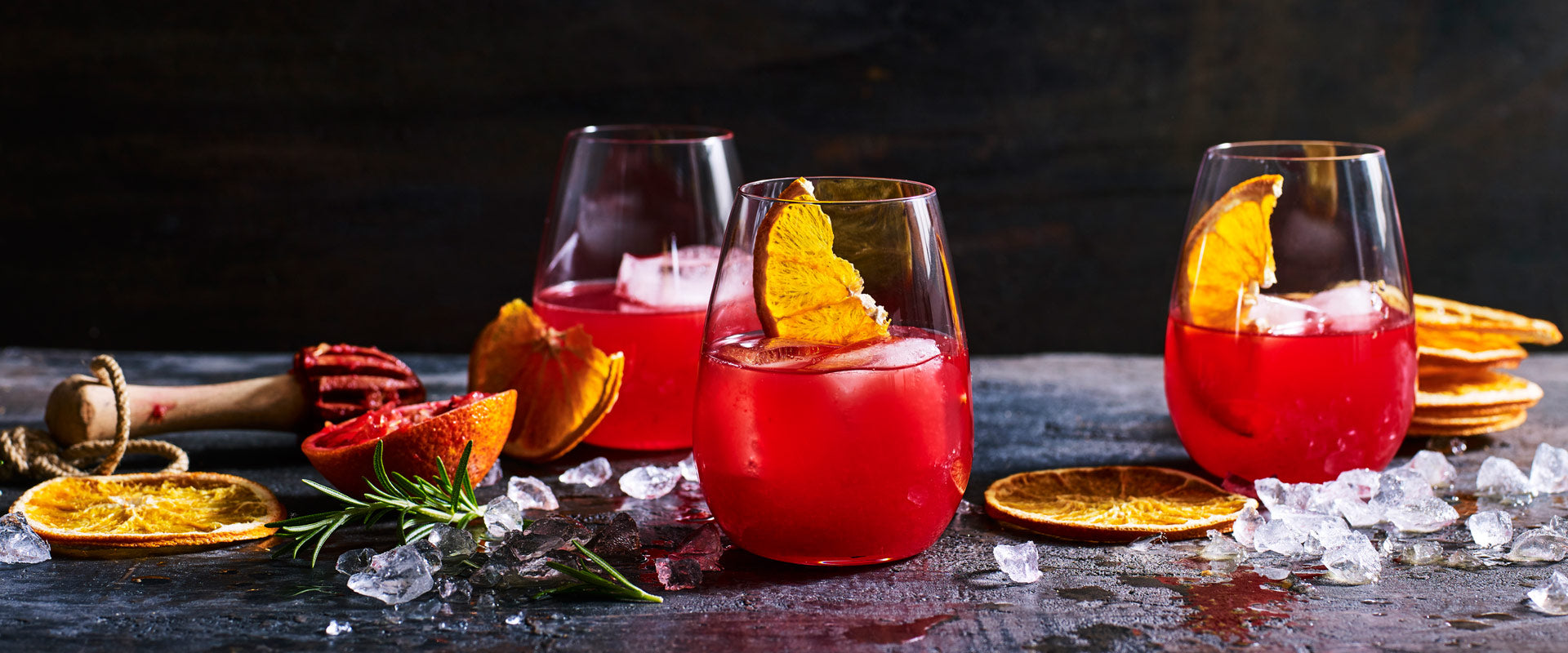 blood orange & rosemary cocktail
