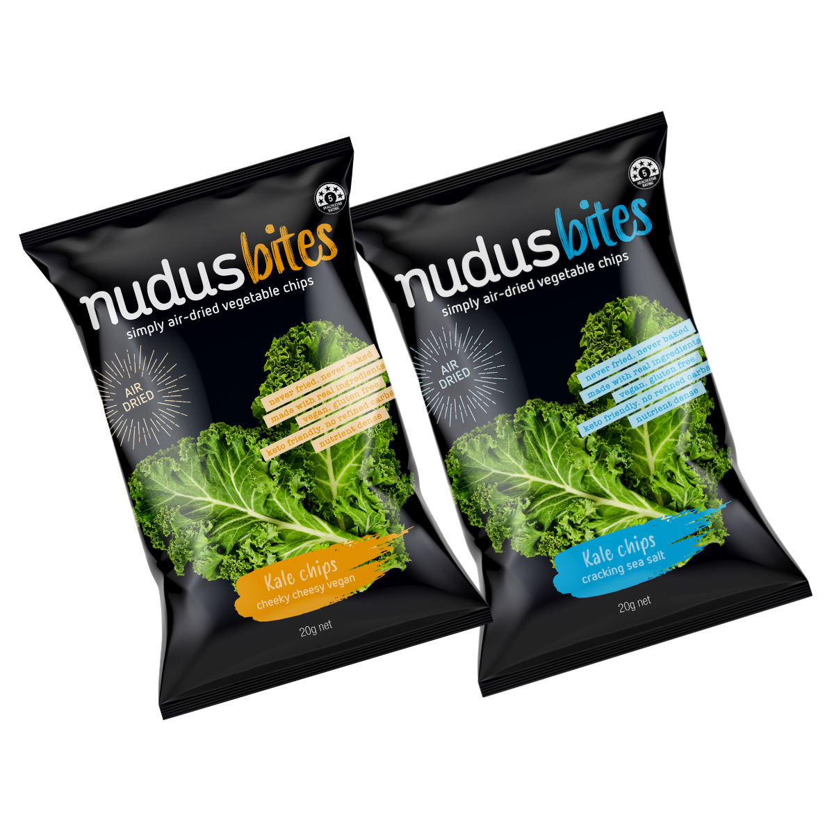 Kale Chips Mixed Box - 12 Packs ($3.20 / 20g Pack)