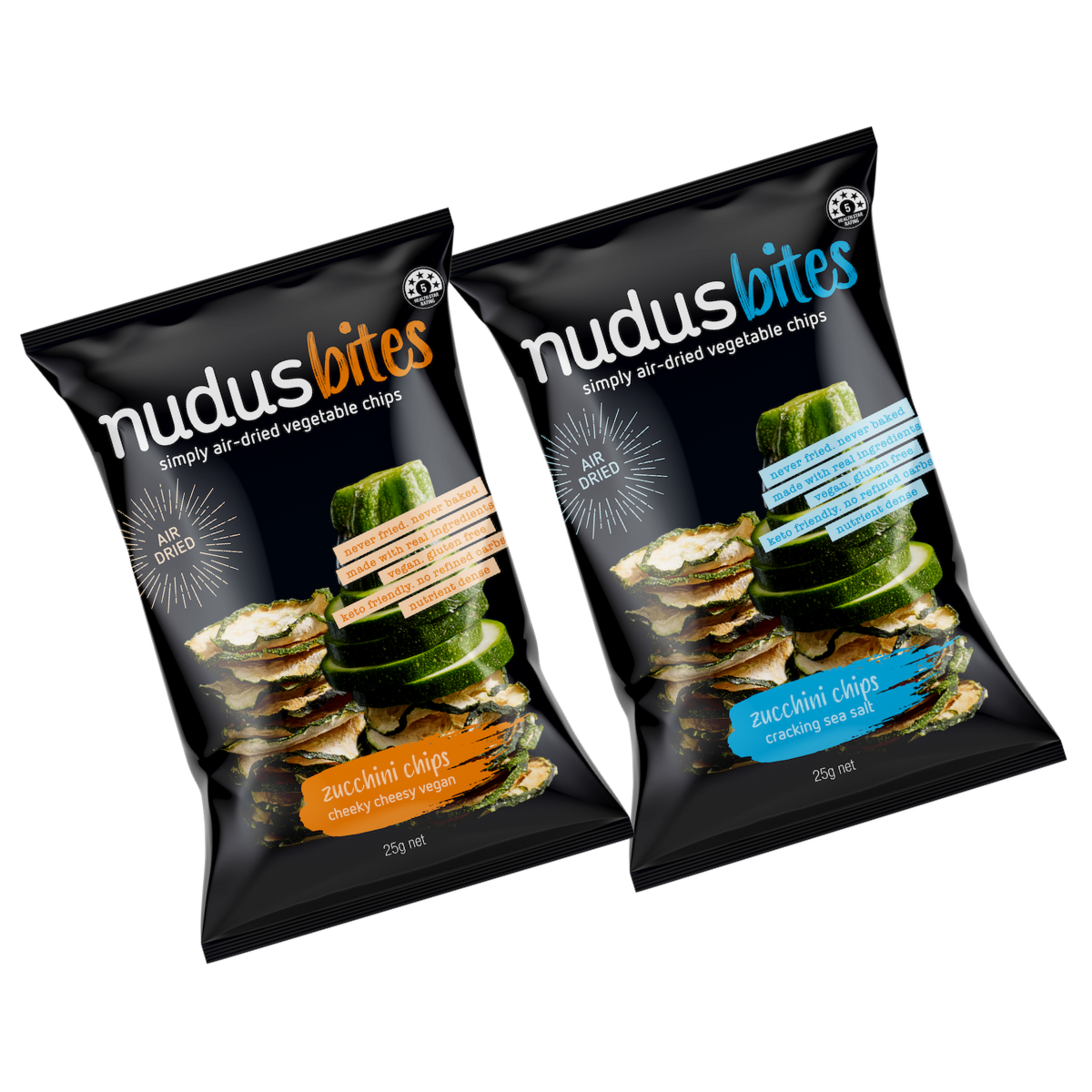 Zucchini Chips Mixed Box - 12 Packs ($3.20 / 25g Pack)