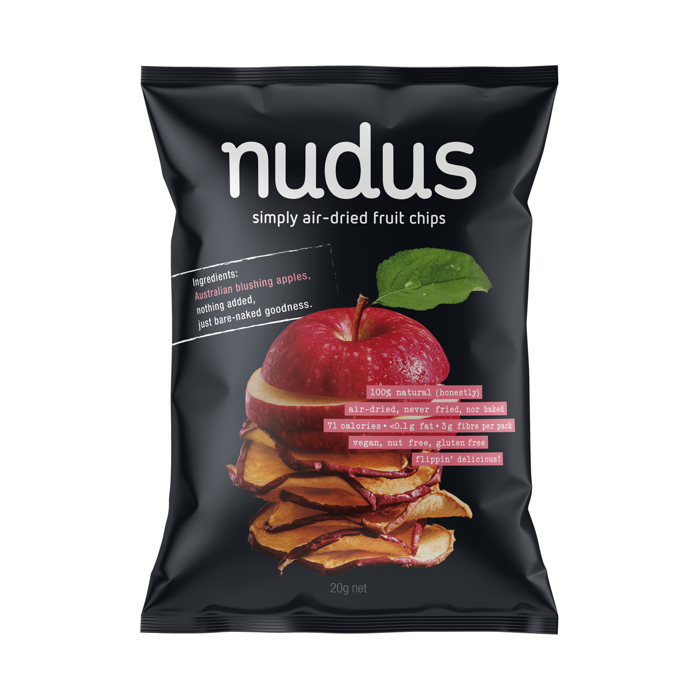 apple fruit chips - 12 bags ($2.75 / 20g bag)