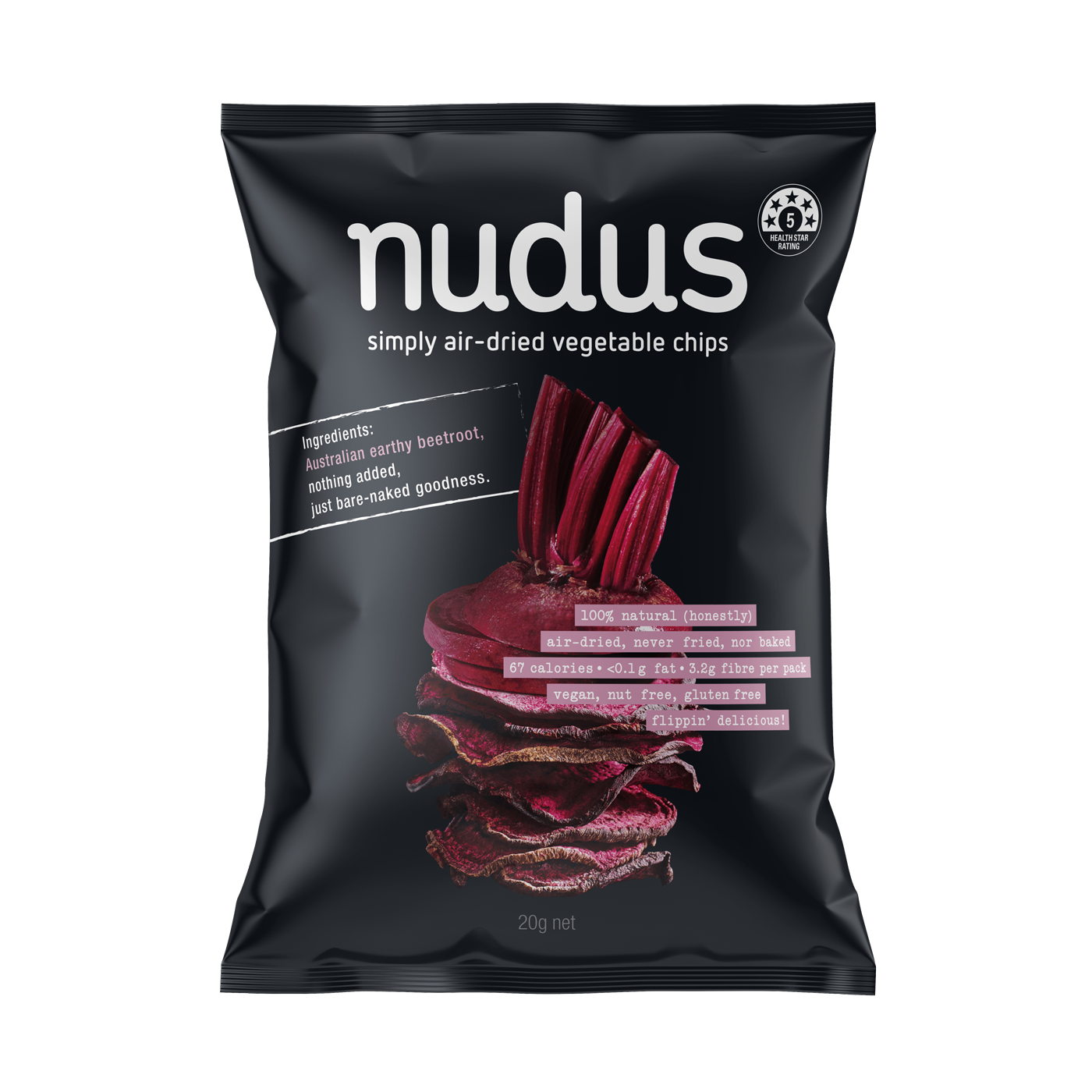beetroot vegetable chips - 12 bags ($2.75 / 20g bag)
