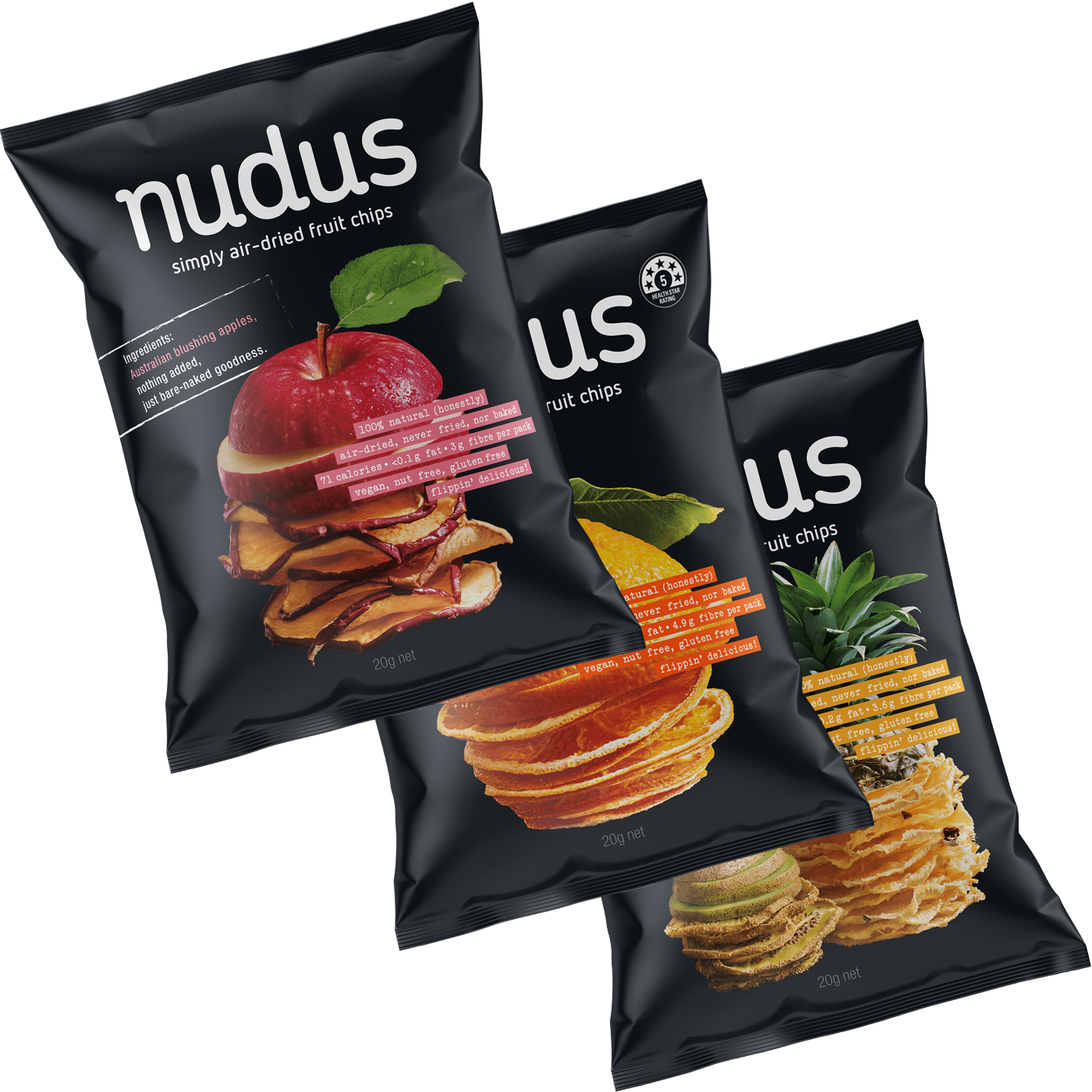 fruit chips box - 12 bags ($2.75 / 20g bag)
