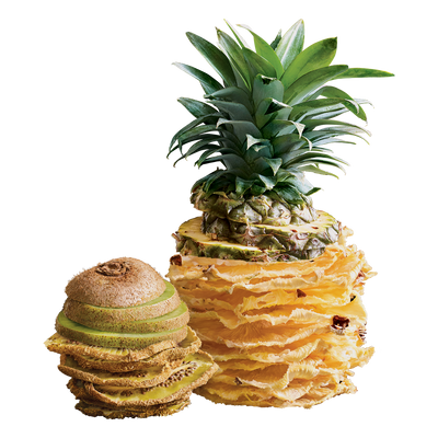 kiwi & pineapple fruit chips - 12 bags ($2.75 / 20g bag)