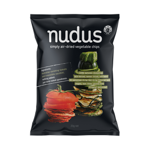 zucchini & tomato vegetable chips - 12 bags ($2.75 / bag)