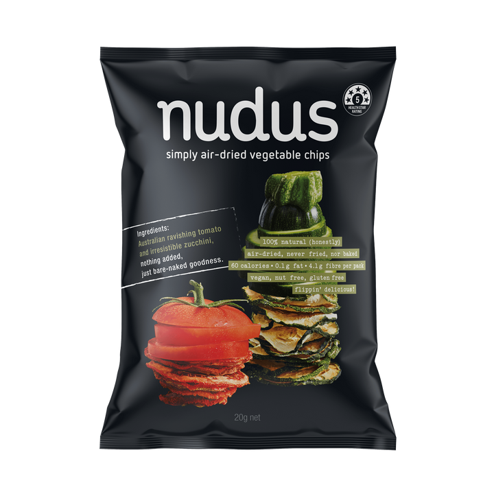 zucchini & tomato vegetable chips ($2.75 / bag)