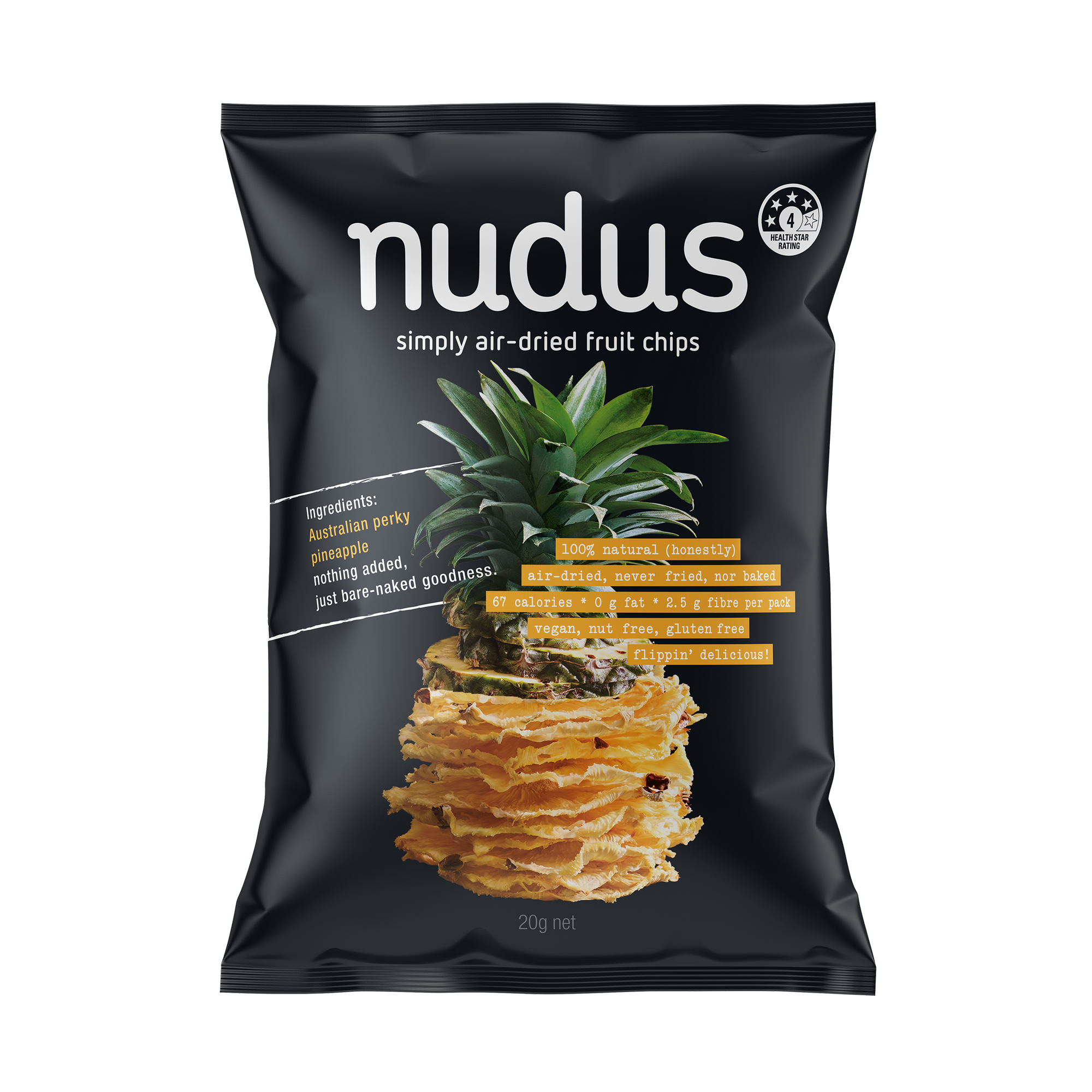 pineapple fruit chips - 12 bags ($2.75 / 20g bag)