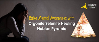Raise Mental Awareness with Orgonite Selenite Healing Nubian Pyramid