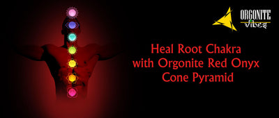 Heal Root Chakra with Orgonite Red Onyx Cone Pyramid