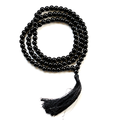 Orgonite Black Onyx Japa Mala Stone Necklace
