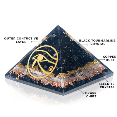 Orgonite Powerful  Black Tourmaline Pyramid