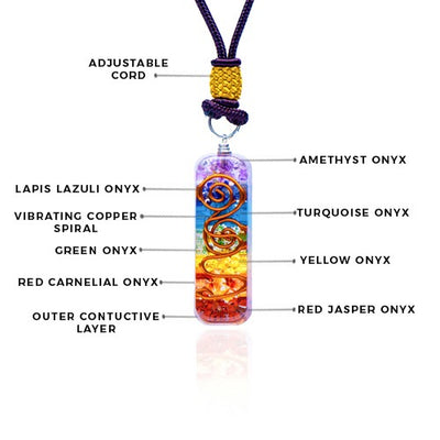 Orgonite 7 Chakra Stones Layered Necklace