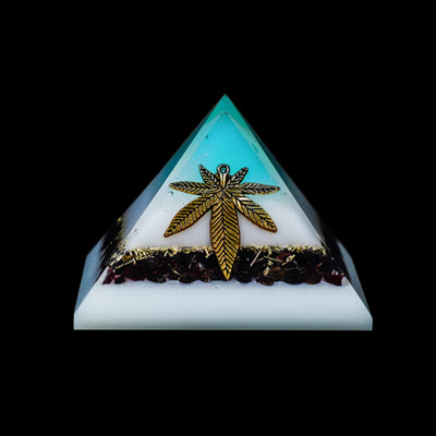 Orgonite Red Garnet  and White Flame Orgone Generator