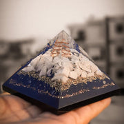 Orgonite Rainbow Moonstone Pyramid
