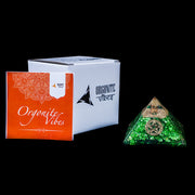 Powerful Green Onyx Orgonite Pyramid-Stone Of Opportunity