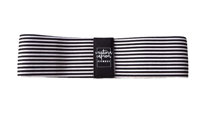 B&W Striped Small Loop Band / Medium Resistance