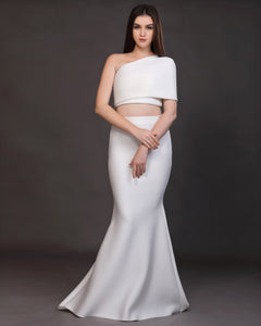 Essence- One-Shoulder Drape