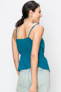 Knotted Teal Cami - John and Suki