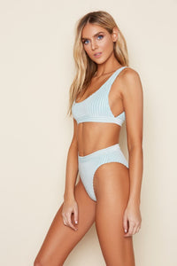 Wonderland Blue Bikini Top - John and Suki