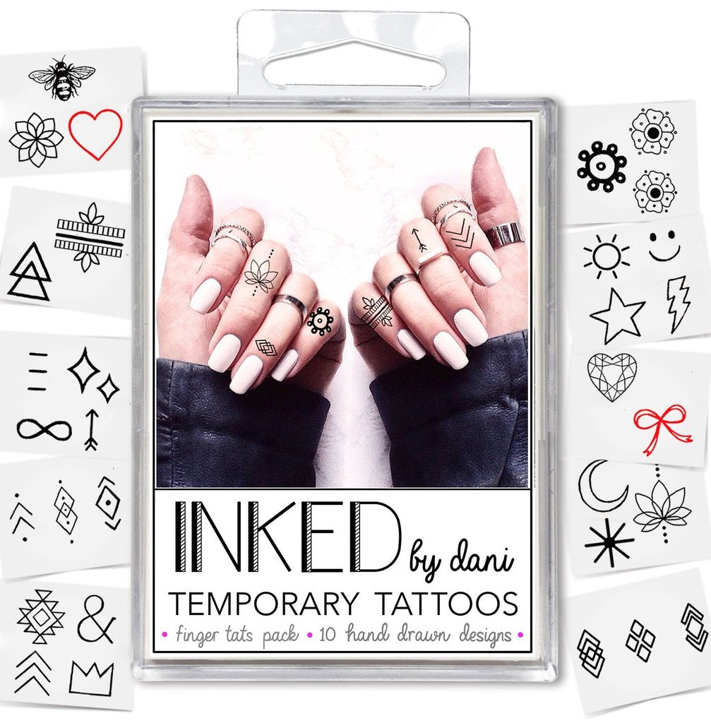 Finger Tats Pack - John and Suki