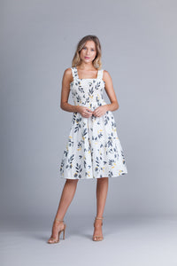Southern Charm White Midi Dress - John and Suki